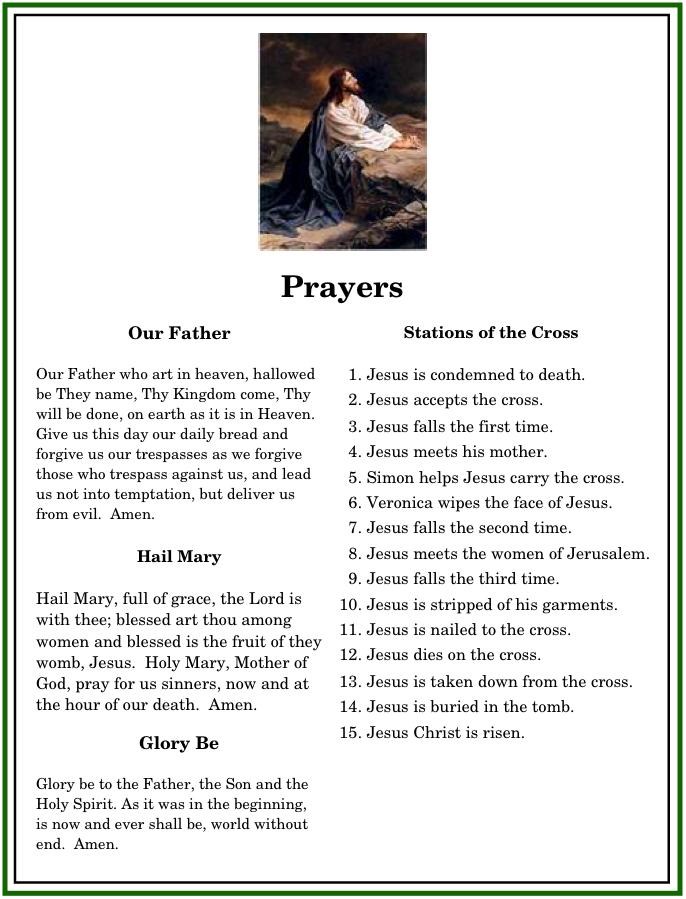 how to end a catholic prayer